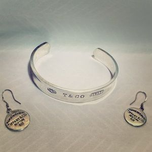 Tiffany and company earrings and bracelet